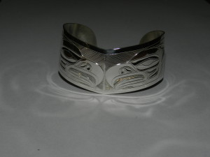 "1 1/4 "" Eagle bracelet - silver"