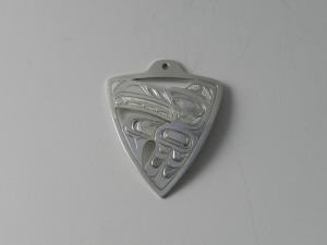 """Raven Pendant - silver  1 5/8"""" x 1 1/4 """" $300"""